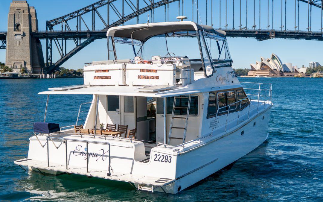 ENIGMA X – 32' Motor Catamaran